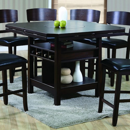 Crown Mark Conner  Contemporary Counter Height Table