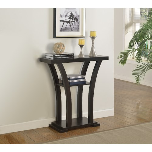 Crown Mark Console Tables Sleek Black Console Table