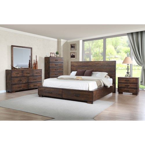 Crown Mark Cranston King Bedroom Group
