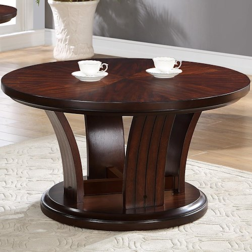 Crown Mark Daria Contemporary Coffee Table with Caster