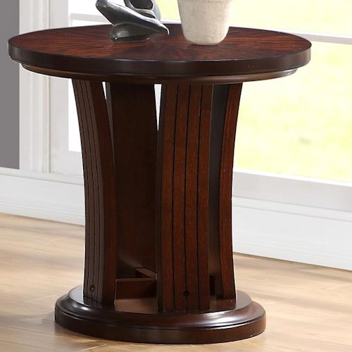Crown Mark Daria End Table in Rich Brown Finish