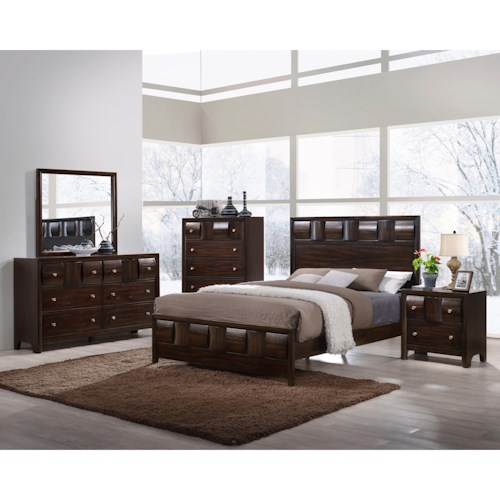 Crown Mark Delrey King Bedroom Group