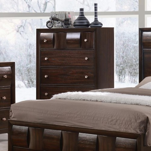Crown Mark Delrey Chest of Drawers with Cylindrical Motif