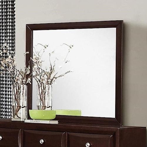 Crown Mark Donovan Dresser Mirror with Rich Espresso Finish