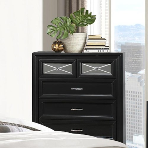 Crown Mark Elisa Chest of Drawers with 6 Drawers