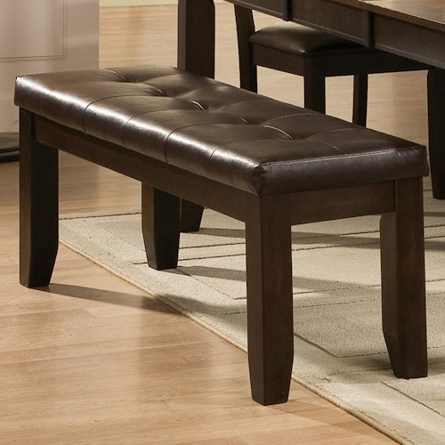 Crown Mark Elliott Dining Bench with Upholstered Seat