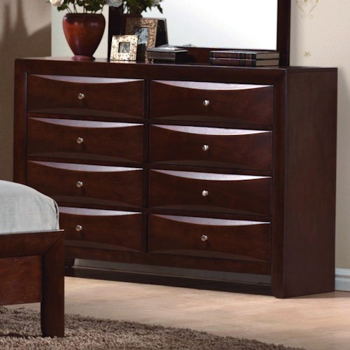 Crown Mark Emily Contemporary 8 Drawer Dresser