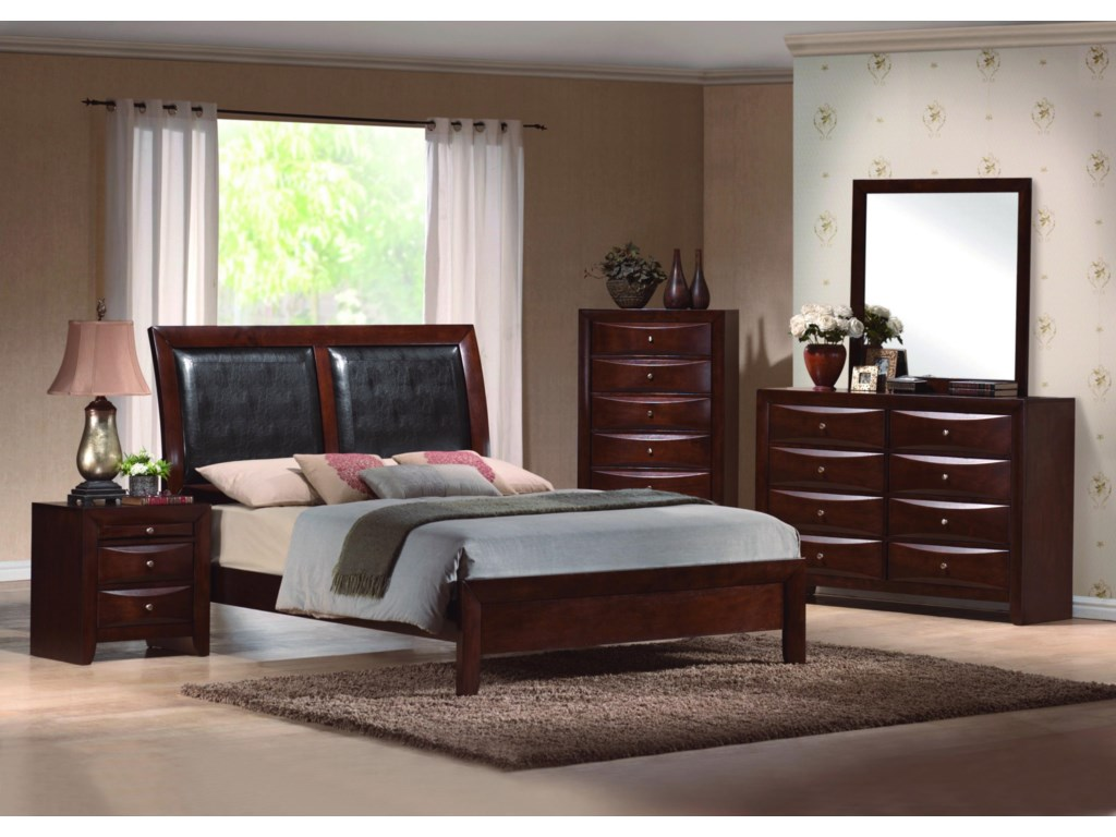 Shown with Night Stand, Platform Bed, Chest and Mirror