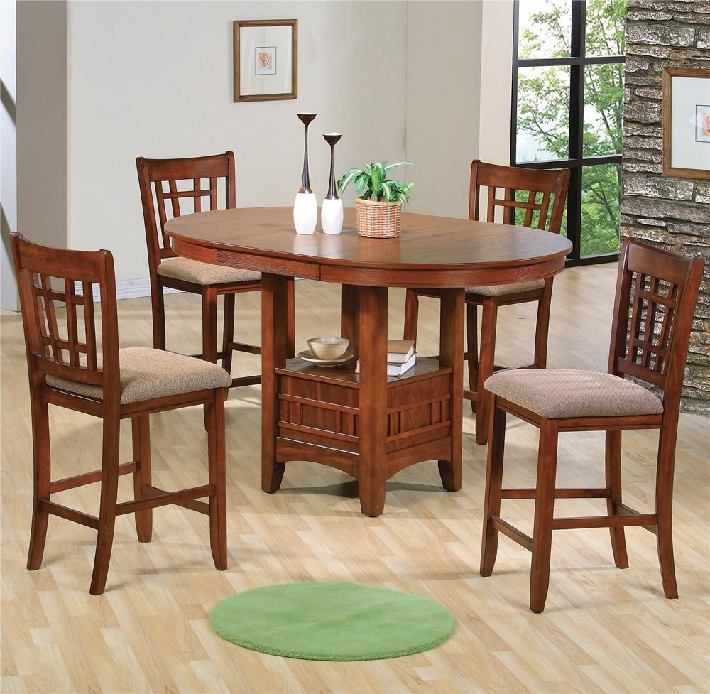 crown mark empire counter height dining table and chair set with upholstered seats - Counter Height Chairs