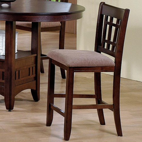 Crown Mark Empire  Counter Height Side Chair with Upholstered Seat