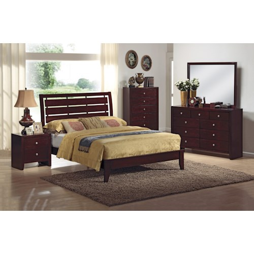 Crown Mark Evan 4 Piece Bedroom Group