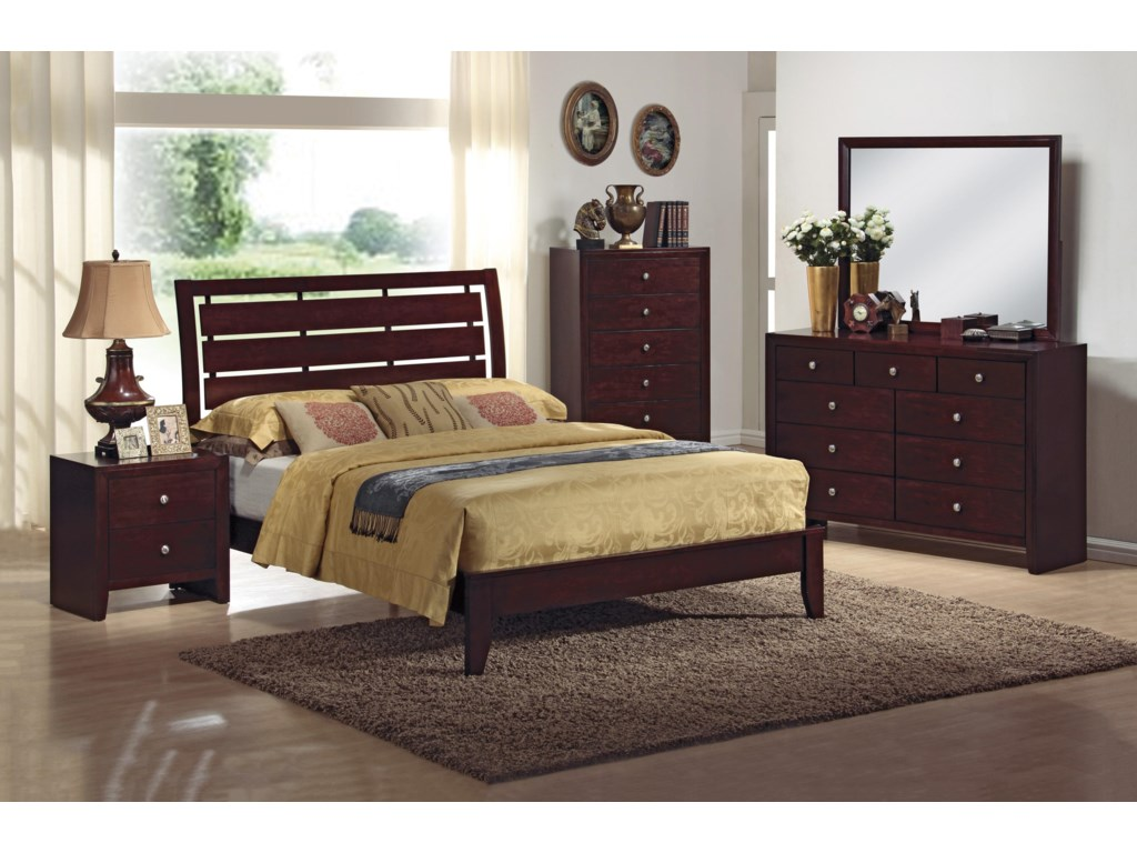 Shown with Coordinating Platform Bed, Chest, and Dresser with Mirror Combination