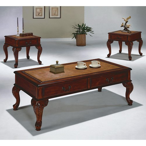 Crown Mark Explorer 3 Pack Cocktail Table and End Tables Set