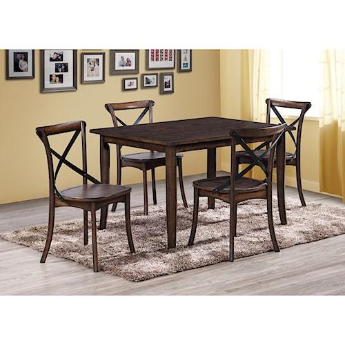 Crown Mark Farris Rectangular Table and Chair Set