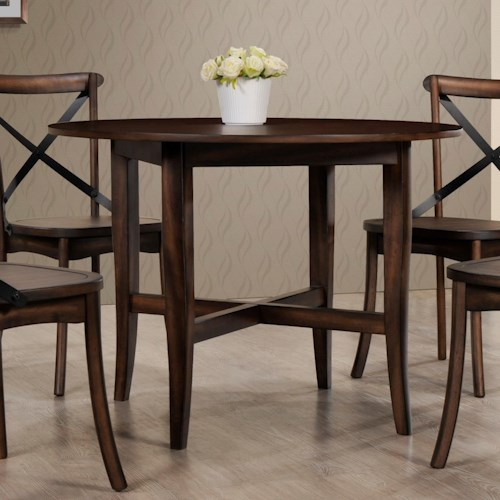 Crown Mark Farris Dining Round Table with Stretcher Support