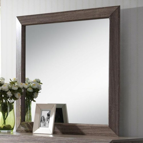 Crown Mark Farrow Grey Framed Mirror