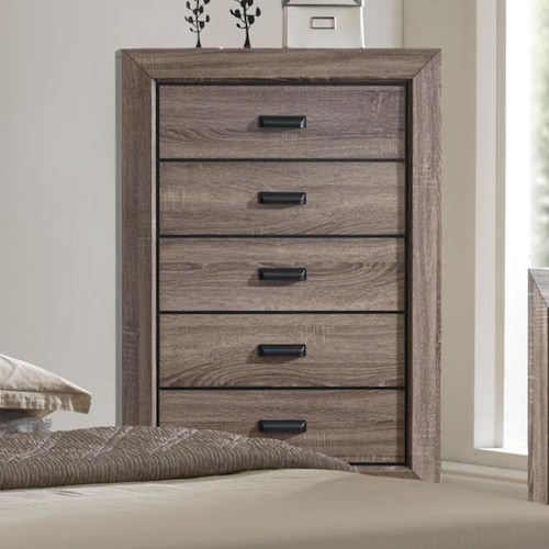 Crown Mark Farrow Transitional Chest of Drawers