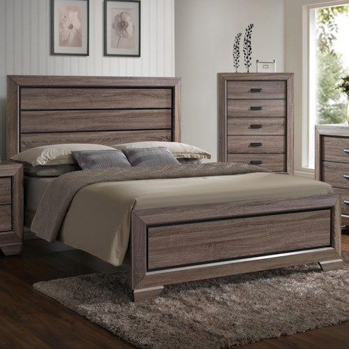 Crown Mark Farrow Queen Headboard and Footboard Panel Bed