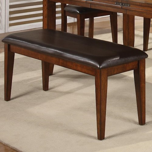 Crown Mark Figaro Dining Room Bench with Upholstered Seat