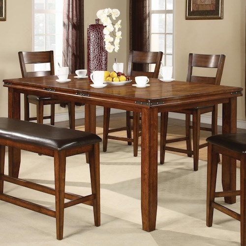 Crown Mark Figaro Counter Height Table with Leaf