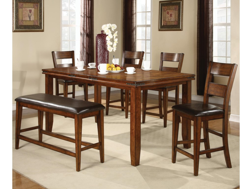 Shown with Coordinating Counter Height Bench and Chairs