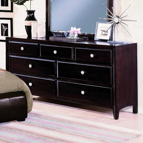 Crown Mark Flynn 7 Drawer Dresser