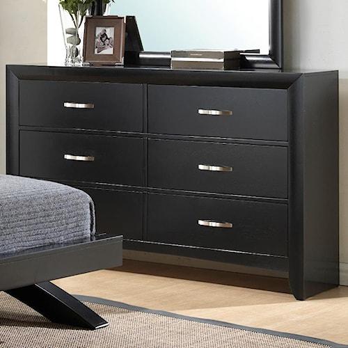 Crown Mark Galinda  6 Drawer Dresser