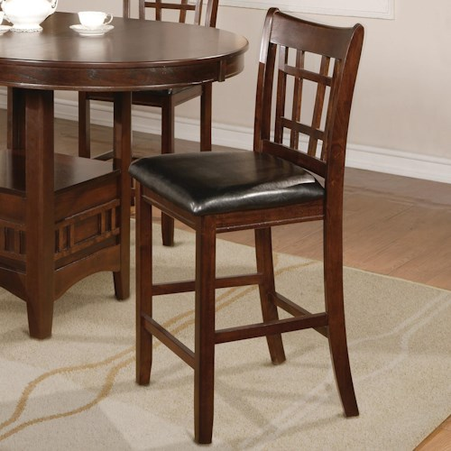 Crown Mark Hartwell Counter Height Chair Stool