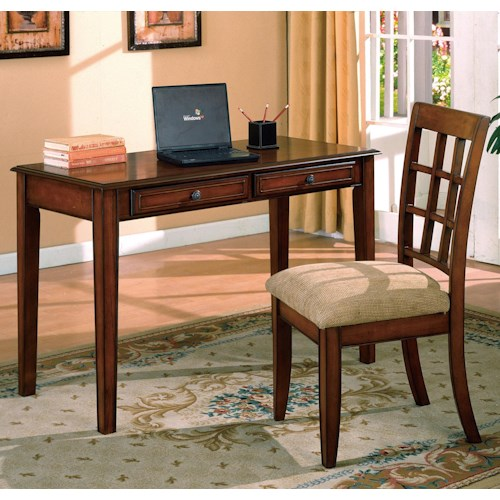 Crown Mark Hawthorne  Table Desk and Chair Set