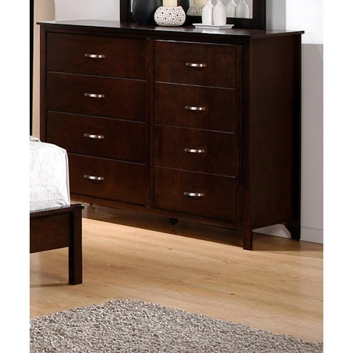 Crown Mark Ian 8 Drawer Dresser