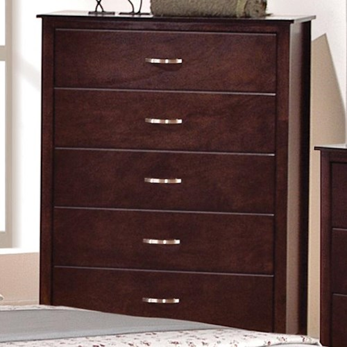 Crown Mark Ian 5 Drawer Chest