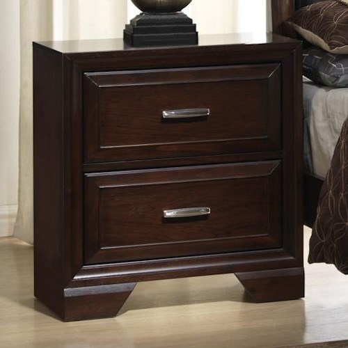 Crown Mark Jacob Night Stand with 2 Drawers