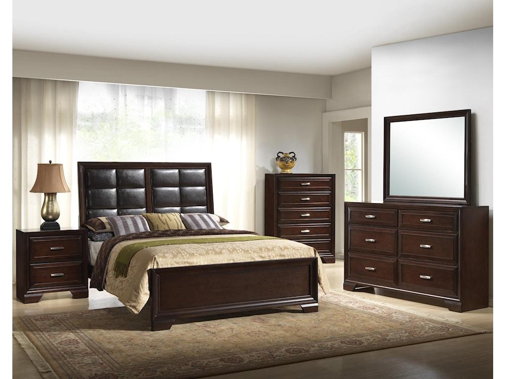 Shown with Bed, Chest, Dresser, & Mirror