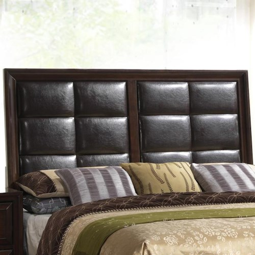 Crown Mark Jacob King Upholstered Panel Headboard