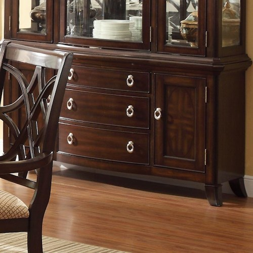 Crown Mark Katherine 2 Door Buffet with 3 Drawers