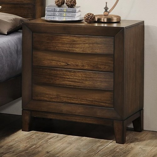 Crown Mark Kelton Contemporary Nightstand