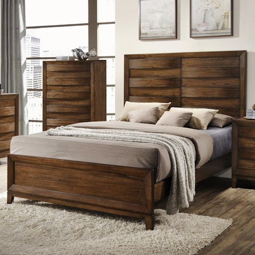 Crown Mark Kelton Contemporary Panel Bed