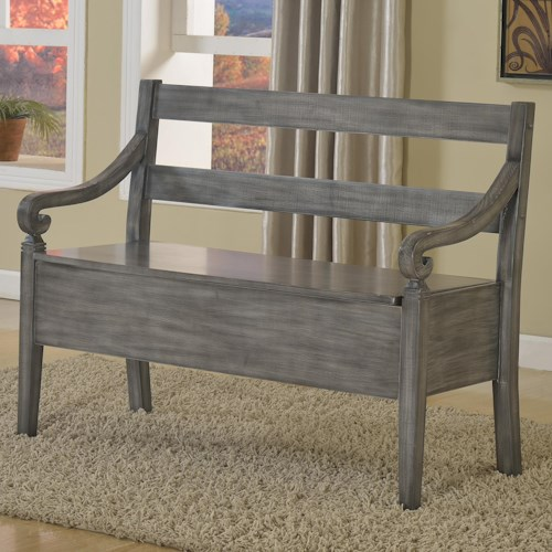 Crown Mark Kennedy Accent Bench with Seat Storage