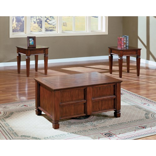 Crown Mark Knoxville 3 Piece Cocktail and End Tables Set