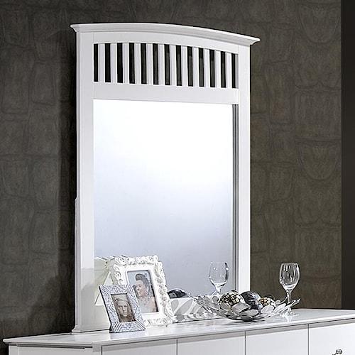 Crown Mark Lawson Slatted Dresser Mirror