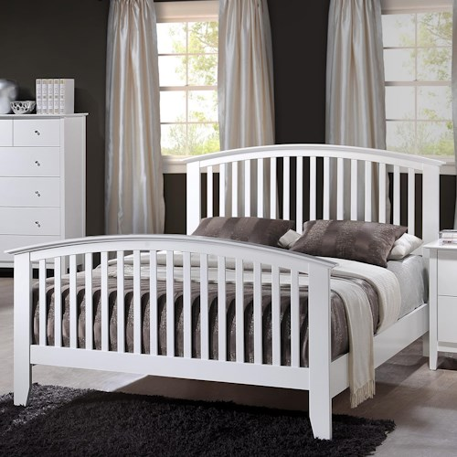 Crown Mark Lawson Queen Slatted Headboard & Footboard Bed
