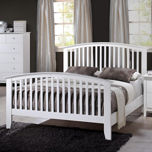 Crown Mark Lawson Twin Slatted Headboard & Footboard Bed