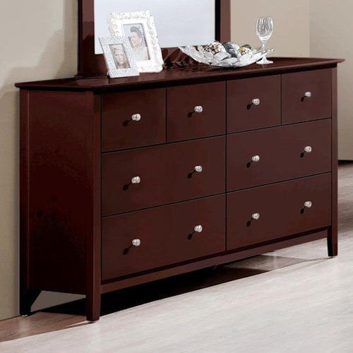 Crown Mark Lawson  6 Drawer Dresser