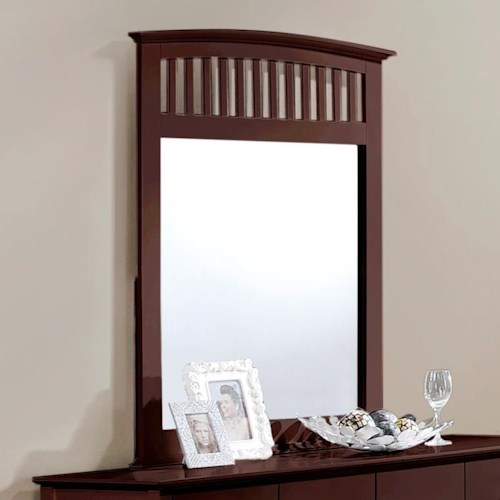 Crown Mark Lawson  Slatted Dresser Mirror