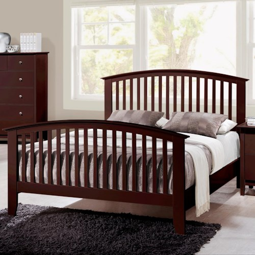 Crown Mark Lawson  Full Slatted Headboard & Footboard Bed