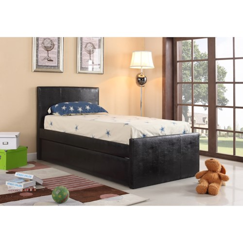 Crown Mark Leo Twin Headboard and Footboard