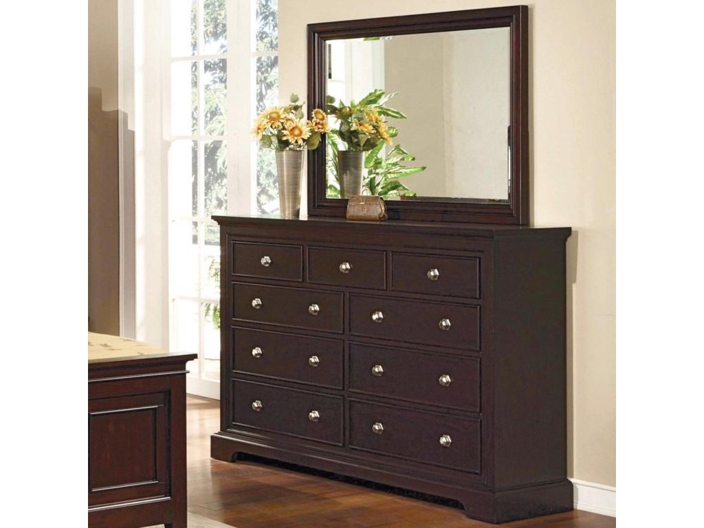 Dresser with Mirror Combination