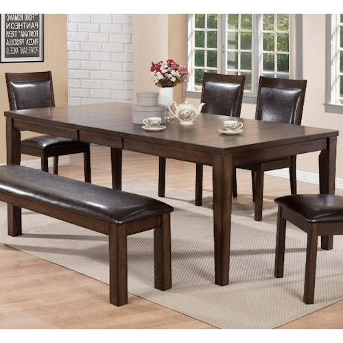 Crown Mark Lottie Rectangular Dining Table with Butterfly Leaf