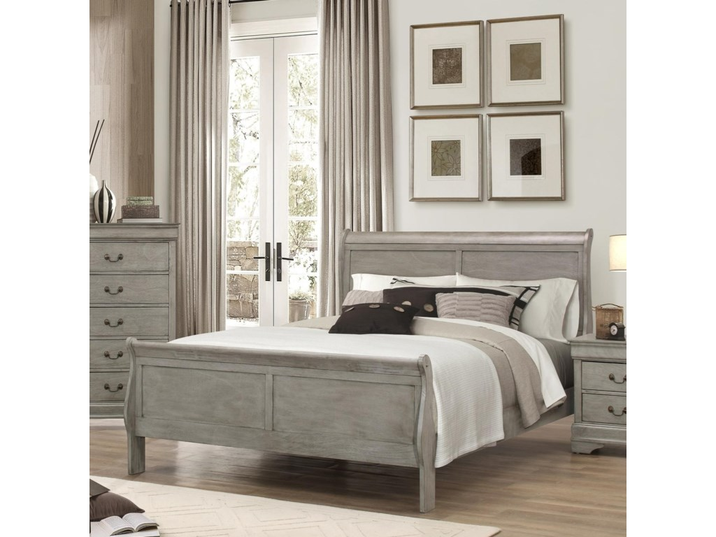 Louis Bedroom Furniture Crown Mark Louis Phillipe Queen Sleigh Bed Del Sol Furniture