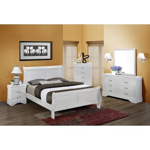 Crown Mark Louis Phillipe Queen Bedroom Group